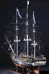 Model Ship of U.S.S. Constitution, W/O-W